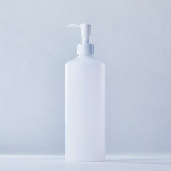ストッパータイプ1ccポンプディスペンサー白+500mlPEボトル容器100本セット(ロット1000本以上)