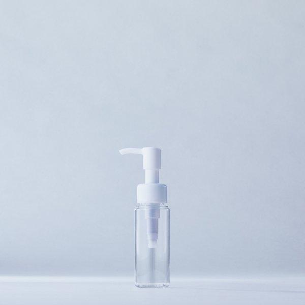 ストッパータイプ1ccポンプディスペンサー白+50mlPETボトル容器100本セット(ロット1000本以上)