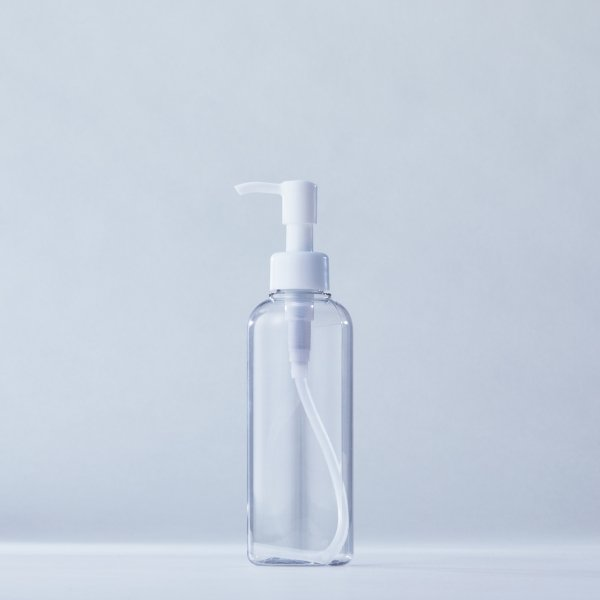 ストッパータイプ1ccポンプディスペンサー白+200mlPETボトル容器100本セット(ロット1000本以上)