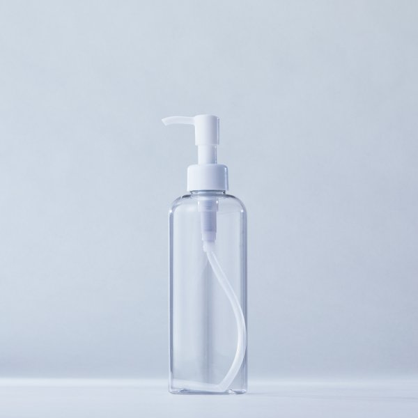 ストッパータイプ1ccポンプディスペンサー白+250mlPETボトル容器100本セット(ロット1000本以上)