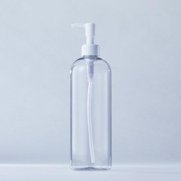 ストッパータイプ1ccポンプディスペンサー白+500mlPETボトル容器100本セット(ロット1000本以上)