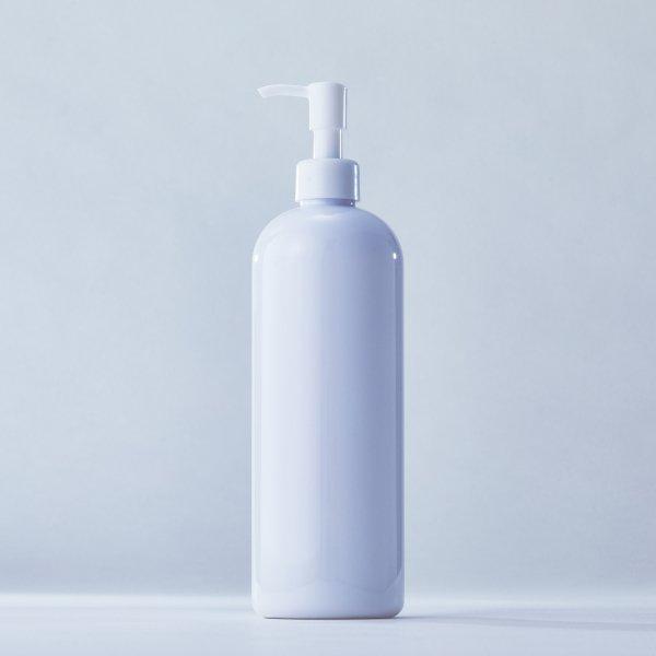 ストッパータイプ1ccポンプディスペンサー白+500mlPETボトル容器 白100本セット(ロット1000本以上)