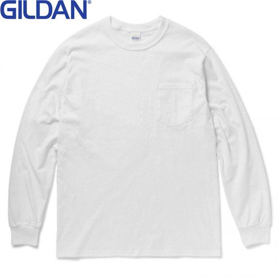 6oz ウルトラコットンロングスリーブポケットTシャツ/GILDAN2410