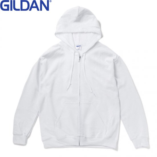8oz ヘビーブレンドジップパーカー/GILDAN1860