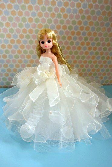 ウエディングドール・ミニチュアドレスorタキシード (お手持ちの人形に合わせて着脱可)