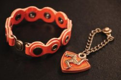 【Harold's Gear × Designers guild】Leather Chain Bracelet and Charm set