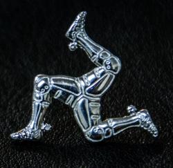 【Harold's Gear 】Triskele Screw Badge (Silver925)