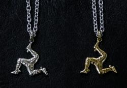 【Harold's Gear】 Triskele Pendant top + Chain (White Metal・Brass)