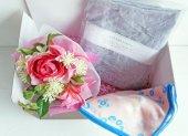 ハンカチ&ふんわり首まきてぬぐい【花のギフトセット(ピンク)】/中川政七商店(遊中川)