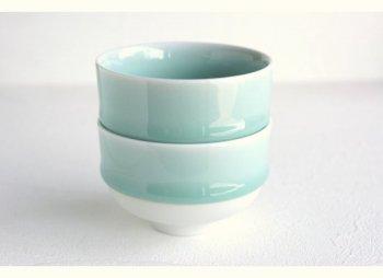 鍋島 虎仙窯 鍋島青磁 煎茶碗 2個入(オプション:茶托2枚)