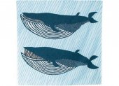 【撥水加工】(NEW)100 kata kata むすび アクアドロップ ナガスクジラ ブルー