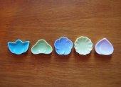 縁起物箸置き 箸置き5個セット(色釉)