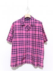 08sircus Chambray check short sleeve shirt