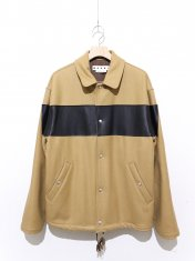 MARNI LEATHER SWICH BLOUSON
