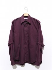 JOHNLAWRENCESULLIVAN POPLIN COTTON BONDAGE SHIRT