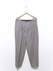 scye Checked Wool Pleated  Trousers