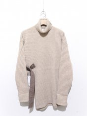 UJOH Belted Turtle Neck Knit