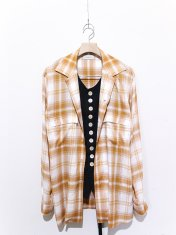 BED j.w. FORD Inner Vest Open Collar Blouse