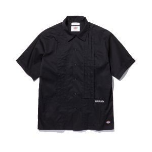 RADIALL×Dickies LADE BACK -OPEN COLLARED SHIRT S/S-Black
