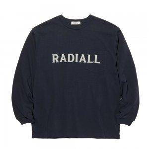 RADIALL 「LOGO TYPE - L/S クルーネックポケットTシャツ」