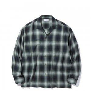 RADIALL 「LO-N-SLOW ー オンブレチェック オープンカラーシャツ」