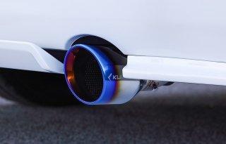 [ハイエース]200V-RS スラッシュカット1テールマフラー (6型2.8ディーゼル専)