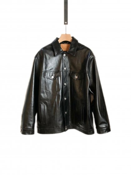 OVERSIZED LEATHER JACKET<img class='new_mark_img2' src='//img.shop-pro.jp/img/new/icons46.gif' style='border:none;display:inline;margin:0px;padding:0px;width:auto;' />