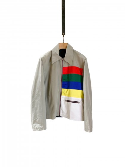 Color Blocking Zipper Jacket With Pockets