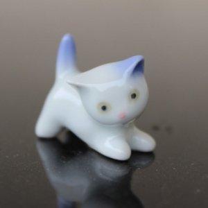 陶器の香立【子猫】
