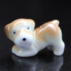 陶器の香立【子犬】