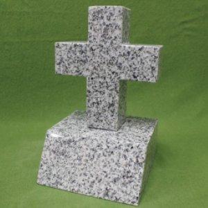 ホワイト御影石・洋碑(十字架)