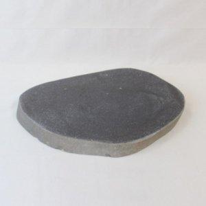 国産・ブラック御影石「自然石プレート」(143334249)