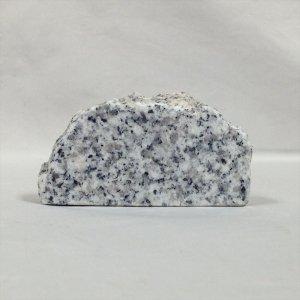 国産・ホワイト御影石「無地」縦置き半円型