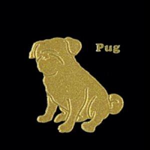 I LOVE DOG パグ(ゴールド)