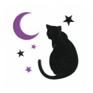 I LOVE CAT 猫と月(ブラック)