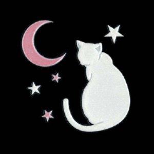 I LOVE CAT 猫と月(ホワイト)