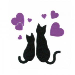 I LOVE CAT 猫とハート(ブラック)