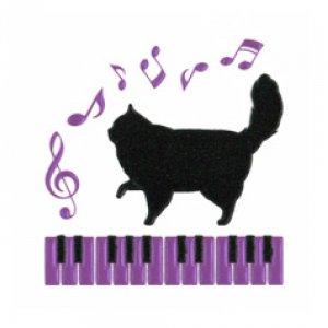 I LOVE CAT 猫とピアノ(ブラック)