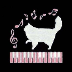 I LOVE CAT 猫とピアノ(ホワイト)