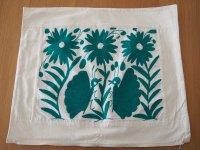 メキシコ オトミ族刺繍クッションカバ-Nディープグリーン