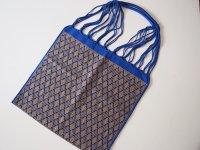 メキシコ チアパス織りバッグ【織模様入り ブルー】