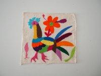 メキシコ オトミ族刺繍クロス【スクエアサイズ�】