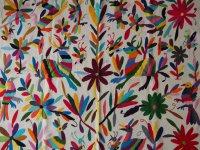 メキシコ オトミ族刺刺繍クロス大【MULT3】