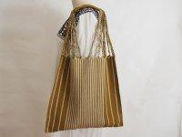 メキシコ チアパス織りバッグ【シンプルストライプ カーキ】