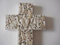 メキシコ ミラグロ壁掛け【十字架L ホワイト】