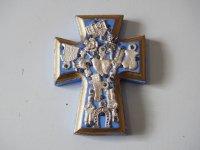 メキシコ ミラグロ壁掛け【十字架S� ブルー】