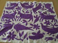 メキシコ オトミ族刺繍クロス【PR】
