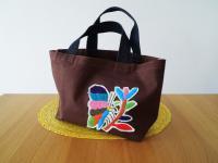 メキシコ オトミ族刺繍ミニトートバック【BR】