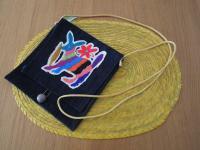 メキシコ オトミ族刺繍ポシェット【デニム】