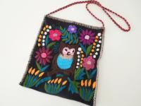 メキシコ シナカンタン刺繍バック【フクロウ】